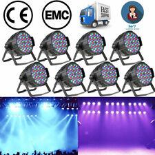 8X Lixada 60W 54LED RGBW PAR Wash Effect Stage Lighting DMX512 Party Club Light