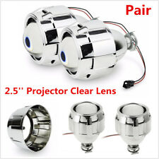 "Pair LHD 2.5"" Mini Bi-Xenon HID Projector Lens Car H1 Headlights Retrofit Shroud"
