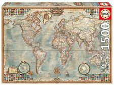 Map Of The World ~ 1500 Piece Educa Jigsaw Puzzle