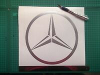Mercedes Benz  logo / badge car vinyl decal sticker  large.....x1