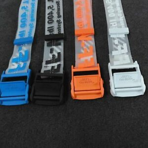 2019 OFF WHITE Tie Down Waist Rubber Transparent Industrial Iron Buckle Belt