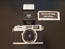 Canon Canonet 28 (40MM) Rangefinder Camera + Sakar 24M Electronic Flash - AS IS