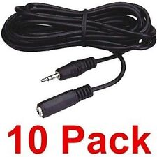 NEW 10-pack 25 ft 3.5mm 1/8 stereo headphone extension cable