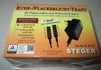Steger Ruhe-Flackerlicht-Trafo für Puppenhäuser und Krippen - 3,5Volt  - 7 Watt