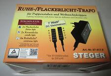 Kahlert Steger Ruhe-Flackerlicht-Trafo für Puppenhäuser/Krippen - 3,5Volt-7 Watt