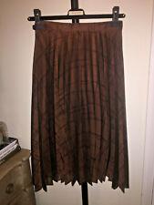 Free Paris Pleated Middy Skirt Silk  8 S