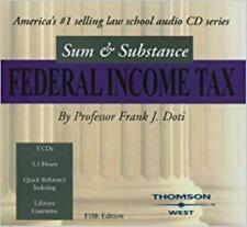 Sum & Substance: Federal Income Tax 5th AUDIO BOOK CD Frank J. Doti course law