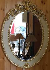 Specchiera cornice specchio ovale legno massello mis int.  50x70 mis est.72x94