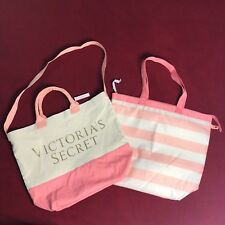 Victoria Secret Pink Striped Cooler Beach Tote Limited Edition 2 IN 1 Bag *NWT*