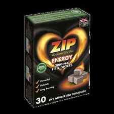 12 X 30 Pack Zip Original Firelighters 360 Cubes Powerful Long Burning
