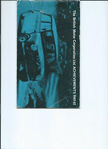 BMC ACHIEVEMENTS-1961/2. MINI COOPER  HEALEY  3000-R. A.C /  TULIP RALLY CONTENT