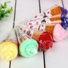 Portable Solid Soft Washing Towel Washcloth Cute  Small Ice Cream Shaped Favor