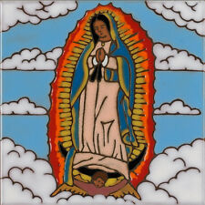 Ceramic Tile Our Lady of Guadalupe painting, install,hotplate, kitchen backsplas