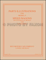 Reo Speed Wagon Parts Illustration Manual 1920 21 1922 1923 1924 1925 1926 1927