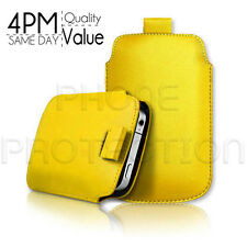 LEATHER PULL TAB SKIN CASE COVER POUCH FOR VARIOUS APPLE PHONES