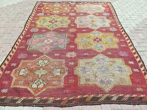 "Turkish Mut Kilim Rug, Area Rugs, Dining Room Rug, Carpet Teppiche Kelim 76x113"""