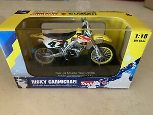 2006 NEW RAY 1/18 RICKY CARMICHAEL MAKITA #4 Suzuki Item #67207