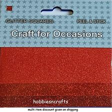MÉTIER POUR OCCASIONS Peel & Stick paillettes carrés Pack de 3 différents rouges