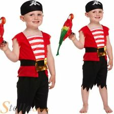Boy's Toddler Pirate Boy Fancy Dress Costume Book Week Outfit Ages 2 3 4