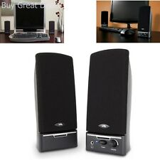 Computer Speaker System 2.0 Channel Desktop Music PC Laptop Speakers Pair Black