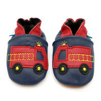 76b55b9d228 Dotty Fish Soft Leather Baby Toddler Pram Shoes Fire Engine 0-6 Month - 4