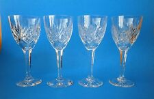 Vintage Kosta Boda Sweden Crystal Helga Pattern Claret Wine Goblets Set Of 4