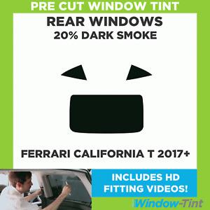 Pre Cut Window Tint - Ferrari California T 2017 20% Dark Rear