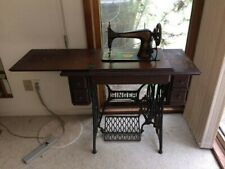 1906 Antique Singer No 66 Treadle Sewing Machine 4 Drawer Table + Accessories