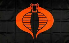 G.I. Joe Cobra Flag 3x5 ft Black Red Banner Man-Cave Garage Collectible Toy New