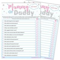 Baby Shower Game 20 Player - MUMMY OR DADDY - UNISEX Stars Neutral Party Games