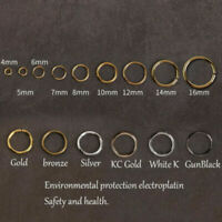 200pcs/lot Gold Silver Link Loop 3 4 5 6 7 8mm Open Jump Rings for Jewelry Makin