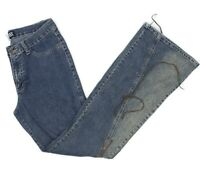 BB Jeans Womens Denim BOHO Retro Hippie Flare Blue Jeans Size 15/16