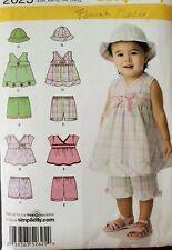 Simplicity pattern 2625 Babies' Top, Shorts & Hat size XXS, XS, S, M, L