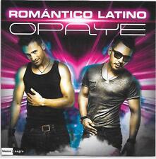 ROMANTICO LATINO - Opaye PROMO CD SINGLE 2TR Euro House 2014 (BLANCO y NEGRO)