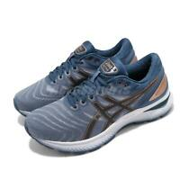 Asics Gel-Nimbus 22 4E Extra Wide Blue Black Gold Mens Running Shoe 1011A682-023