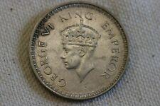 1943 India 1 One Silver Rupee British King George VI Emperor