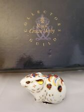 Royal Crown Derby Bank Vole Paperweight-Perfect-Gold Stop-Boxed-Mouse-Exclusiv e