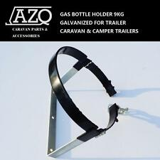 GAS BOTTLE HOLDER 9KG GALVANIZED FOR TRAILER, CARAVAN & CAMPER TRAILER