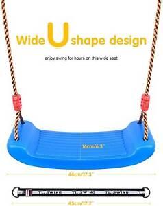 Blue Plastic Swing Seat with Rope, Kids Tree Swing Seat, Swing Set Accessori