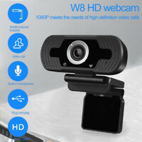 USB 1080P HD Webcam Web Cam Camera & Microphone Mic 10M For PC Computer Laptop