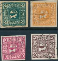 Stamp Austria SC P15-18 1908 Issues of the Monarchy Mercury Imperforated Used