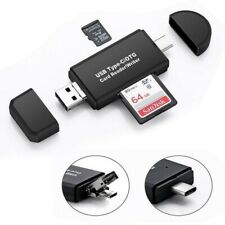 3 in 1 Type C Micro USB to USB Adapter OTG SD TF Card Reader For Android Samsung