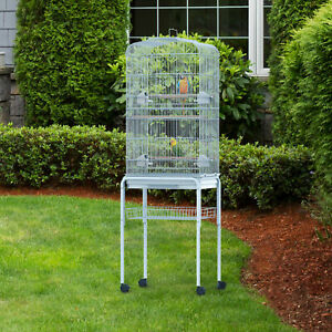 New Bird Cage Large Parrot 153cm Finch Breeding Tray Stand Wheels Light Blue