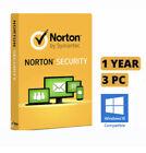 Norton Security 1 Year/3 PC Downloadable Digital Key(GLOBAL)