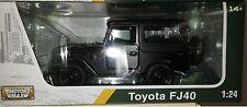 Toyota FJ40 SUV Truck Die-cast Car 1:24 Motormax 7 inch Matte Black