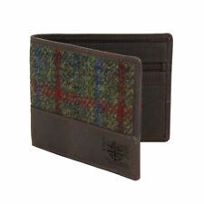 Harris Tweed Wallet (Breanais Green) in British Bag Co Branded Gift Box