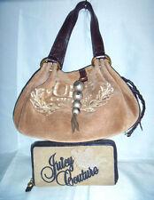 JUICY COUTURE Mocha Brown Hobo/Shoulder Bag w/ Zip Around Wallet Size S  EUC
