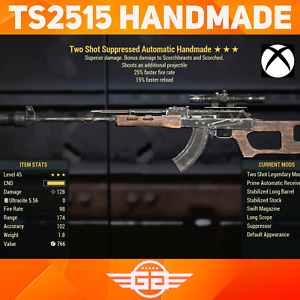 Two Shot FFR FR Handmade Rifle - TS2515 - TS/FFR/FR Handy - Fallout76 [XBOX]
