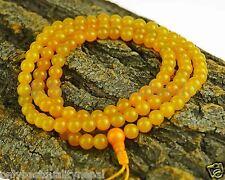 Mala Amarillo Collar Citrino Redondo Bolas Joya Rosario Asia 116