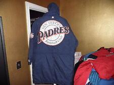Vintage San Diego Padres Throwback Stadium Trench Coat Starter Jacket XL! Mlb